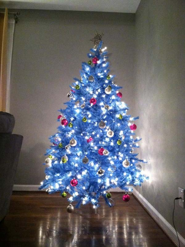 blue christmas tree decorating ideas - Blue White Christmas Decorating Ideas