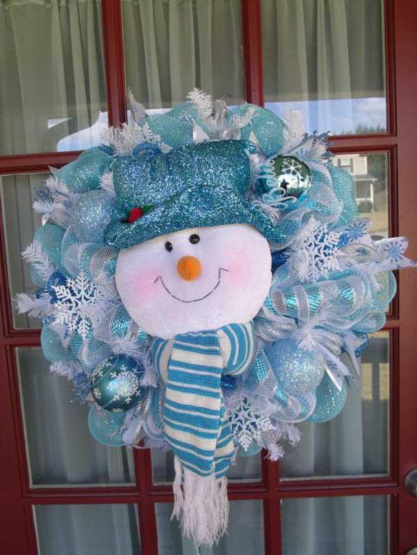 blue christmas wreath ideas - Blue Christmas Wreath