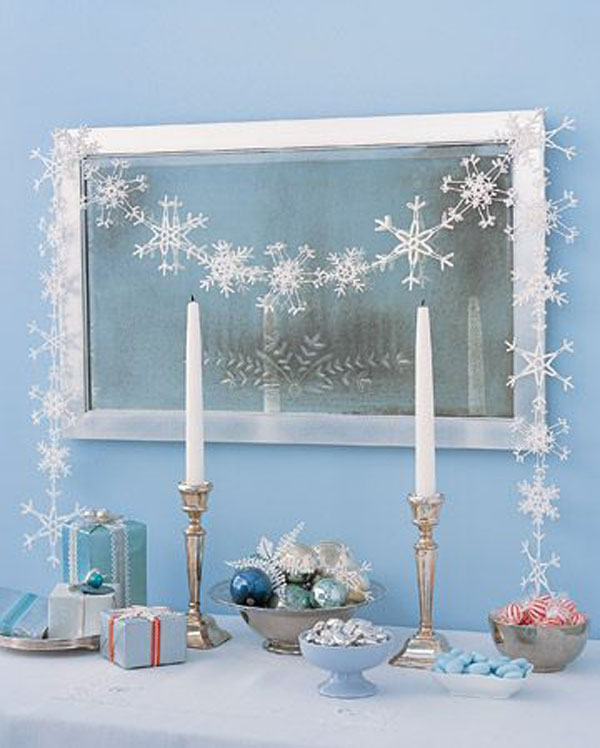 blue theme christmas ideas - Blue And White Christmas Decorations