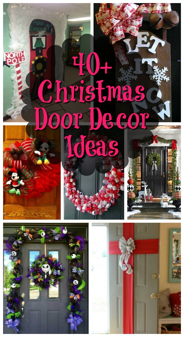 if you need some inspiration for your front door to decorate this christmas season we can show you some of the ideas we have that will surely make your - Christmas Door Decorations
