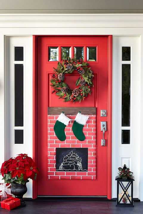 christmas-door-decorations-ideas - Christmas-door-decorations-ideas - Christmas Celebration - All About