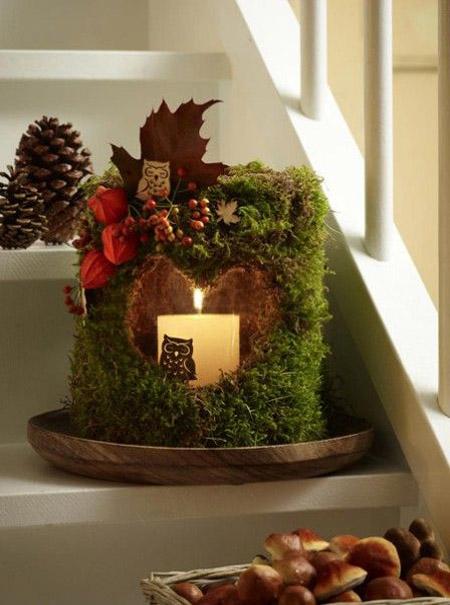 Diy Christmas Moss Lantern