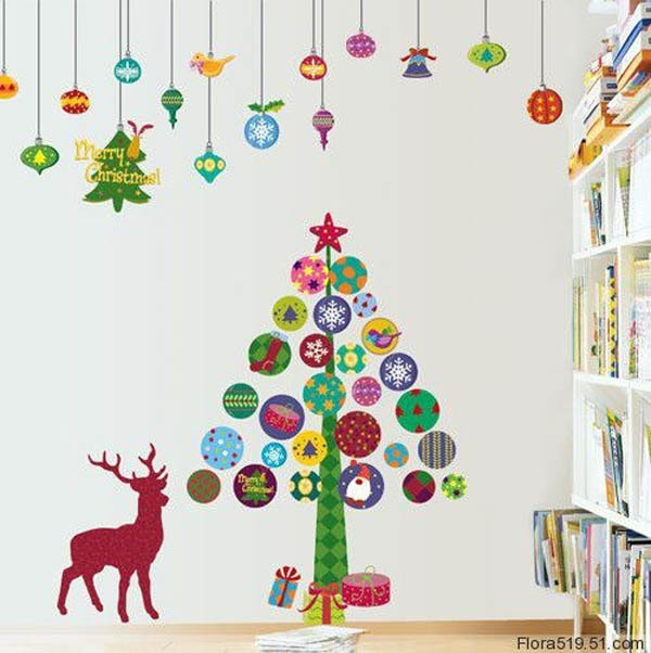 Christmas Wall Decoration Ideas For Office : Christmas wall decorations ideas to deck your walls