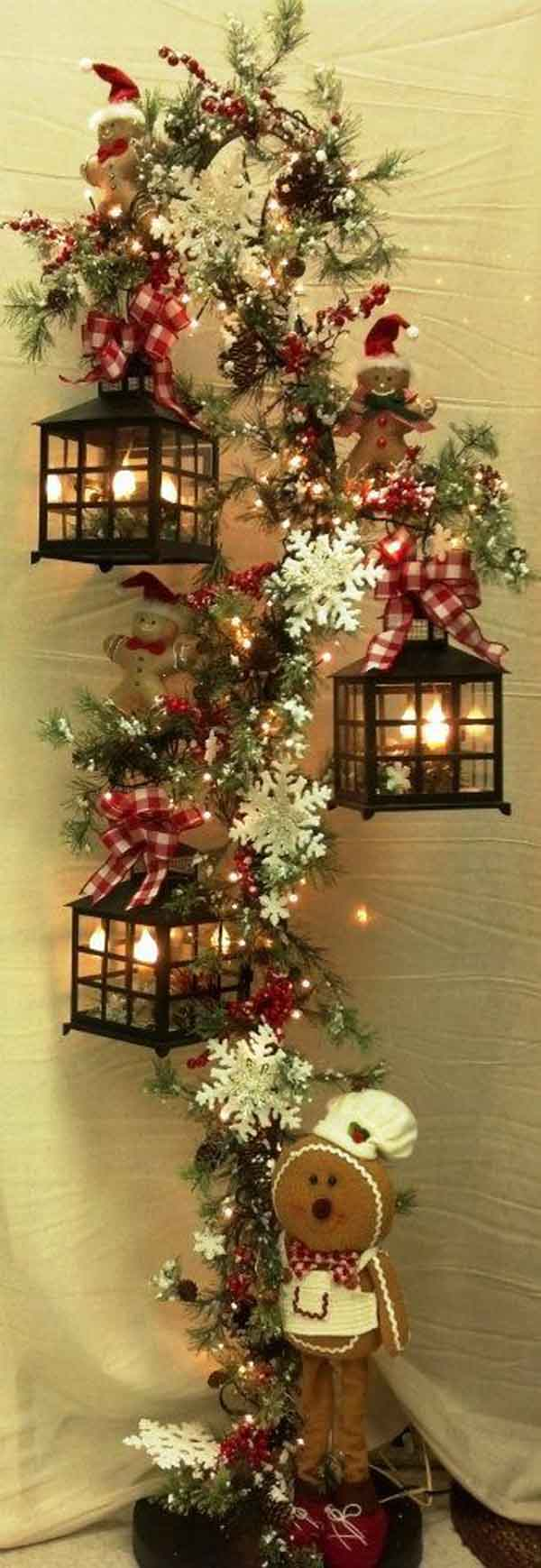 classy christmas lantern - How To Decorate A Lantern For Christmas