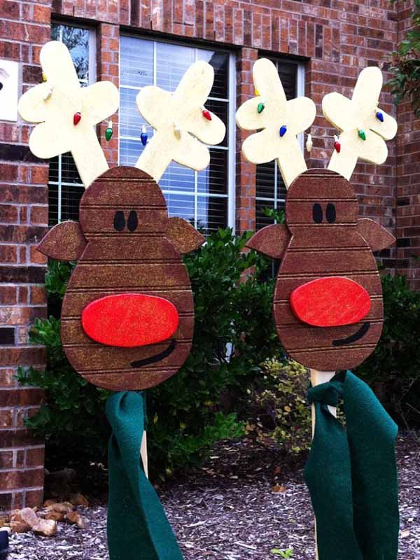 Diy christmas decorations christmas celebration all for Christmas lawn decorations