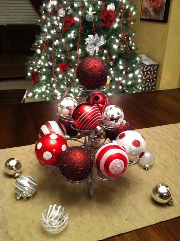 diy christmas table decorations - Christmas Ball Decoration Ideas