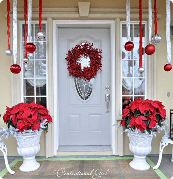 Superb Front Porch Christmas Decoration Ideas