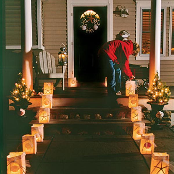 front porch christmas decorations ideas - How To Decorate Front Porch For Christmas