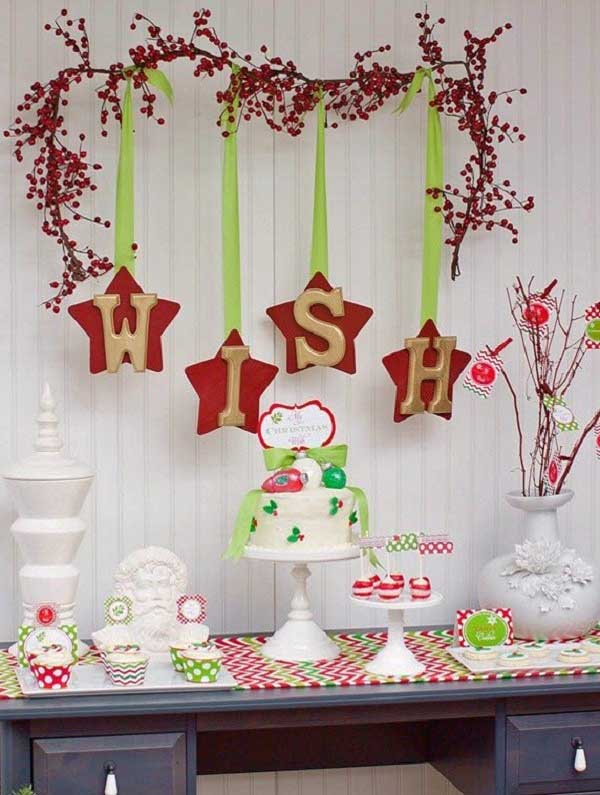 Charmant Ideas For Christmas Wall Decoration
