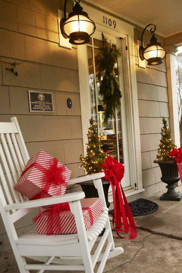 ideas front porch christmas decorations