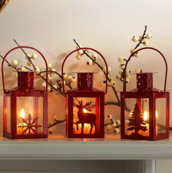 indoor christmas lantern - How To Decorate A Lantern For Christmas