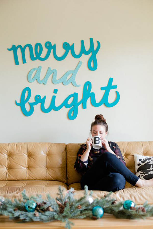 Christmas Wall Decor Diy : Christmas wall decorations ideas to deck your walls