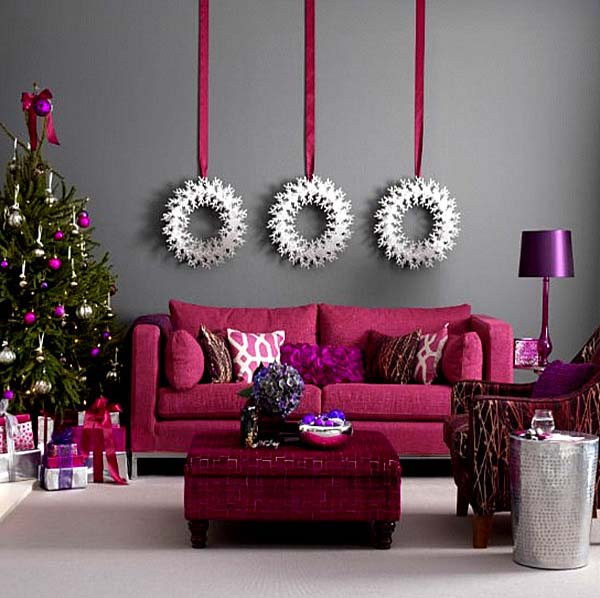 modern christmas wall decoration