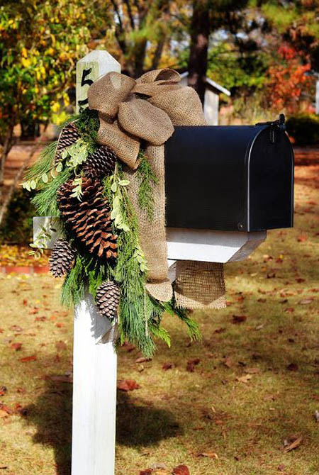 Christmas Decoration For Mailboxes : Earth friendly natural christmas decorating ideas