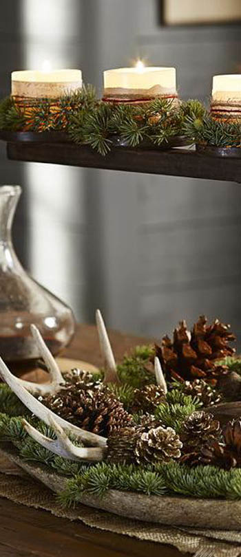 59 Incredibly Simple Rustic Décor Ideas That Can Make Your: Earth-Friendly Natural Christmas Decorating Ideas