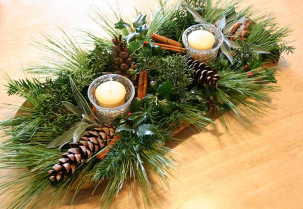 natural-christmas-decorations-14 - Earth-Friendly Natural Christmas Decorating Ideas - Christmas