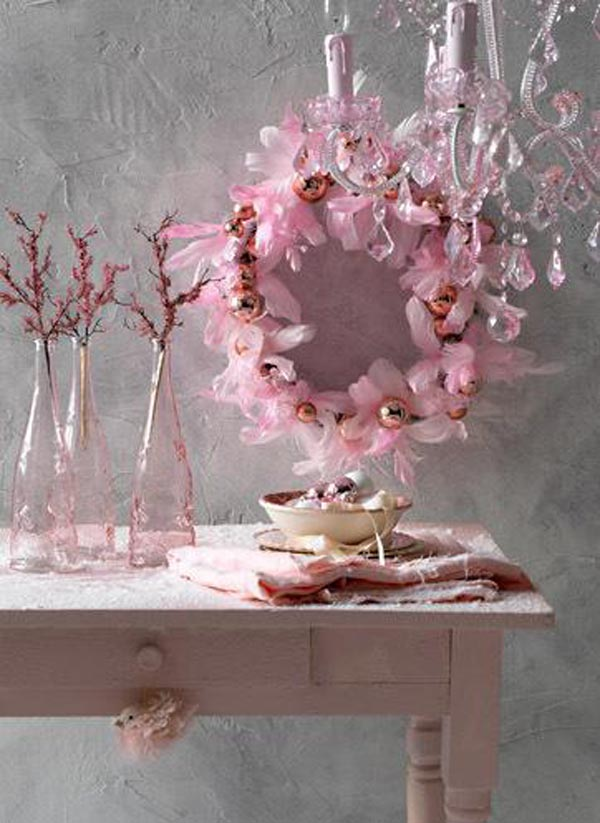 pink christmas decorating ideas - Pink Christmas Decorations