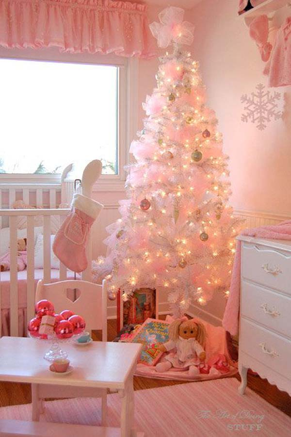 pink theme christmas decoration ideas - Pink Christmas Decorations Ideas