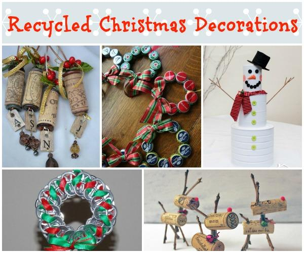 easy recycled christmas decorations and ornaments - Recycled Christmas Decor