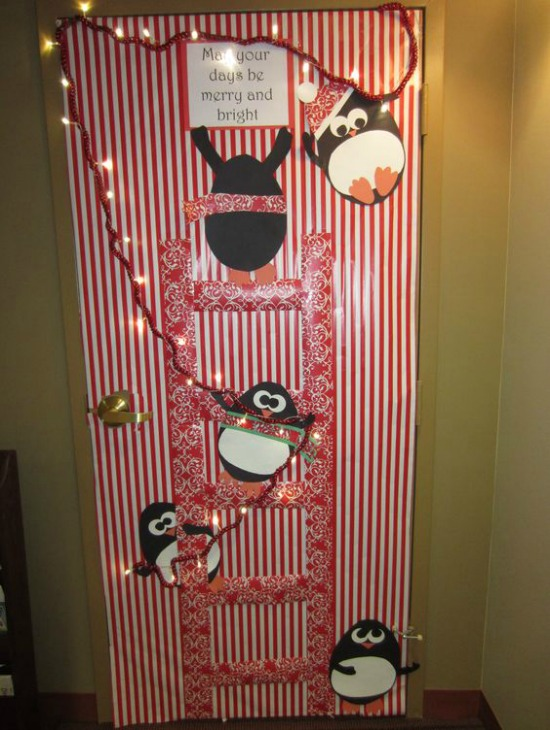 image source pinterest - Christmas Door Decorations