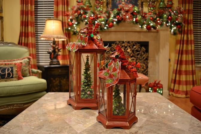 remarkable maroon decorated christmas lanterns - How To Decorate A Lantern For Christmas