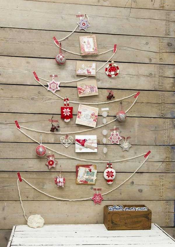 String Tree Christmas Wall Decoration