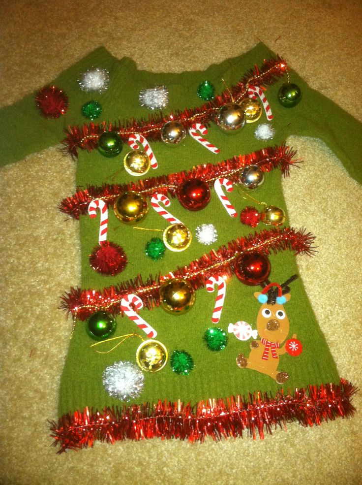 ugly christmas sweater party decoration to make - Ugly Christmas Sweater Party Decorations