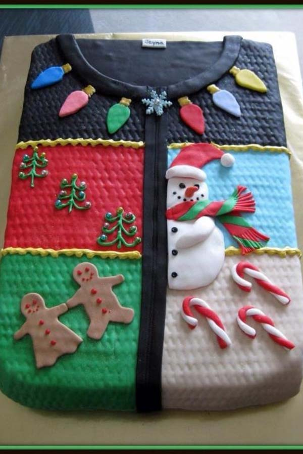 ugly christmas sweater party food cake - Ugly Christmas Sweater Party Decorations