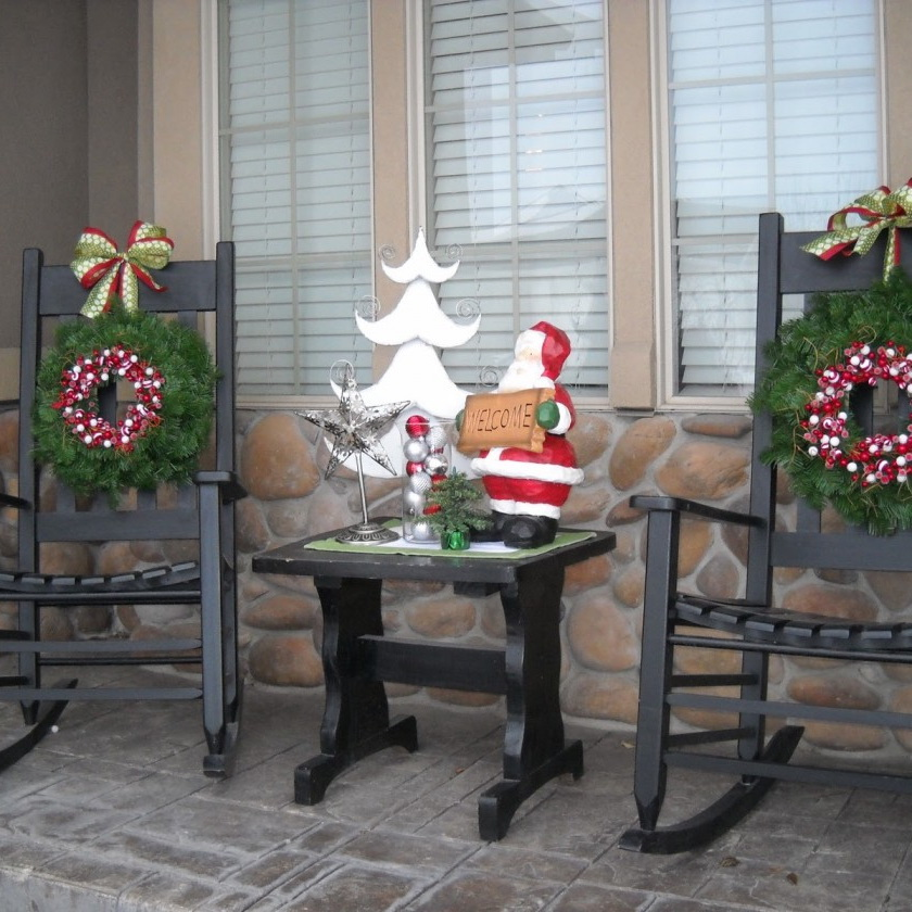 unique brown porch decorating ideas - Porch Decorating Ideas Christmas