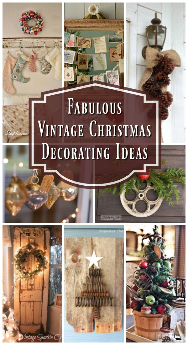 Vintage Christmas Decorating Ideas & Top Vintage Christmas Decorations - Christmas Celebration - All ...