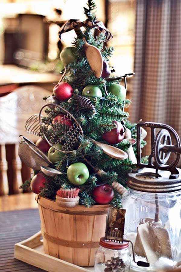 vintage-christmas-tree-decoration-idea