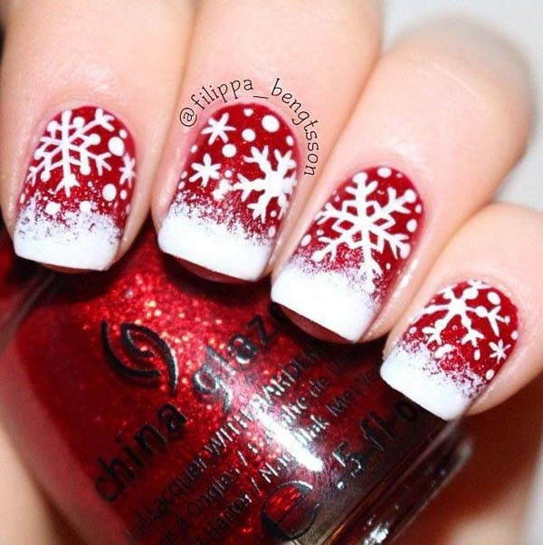Image source: sunshinecitizen.com · acrylic-nail-christmas-designs-idea - 50 Amazing And Easy Christmas Nail Designs And Nail Arts - Christmas