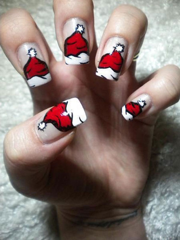50 Amazing And Easy Christmas Nail Designs And Nail Arts Christmas Celebration All About Christmas