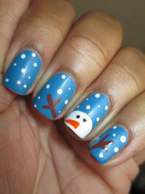 50 amazing and easy christmas nail designs and nail arts christmas acrylic nail designs ideas prinsesfo Gallery
