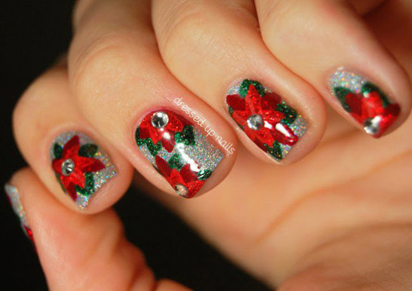 Acrylic Christmas Nail Designs - 50 Amazing And Easy Christmas Nail Designs And Nail Arts - Christmas