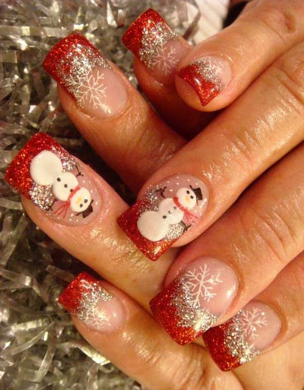 christmas-nail-designs-acrylic-nails - 50 Amazing And Easy Christmas Nail Designs And Nail Arts - Christmas