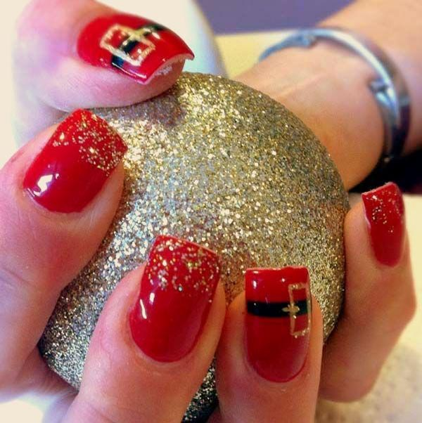 50 Amazing And Easy Christmas Nail Designs And Nail Arts Christmas