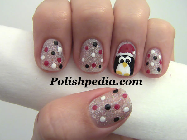 penguin-christmas-nail-art