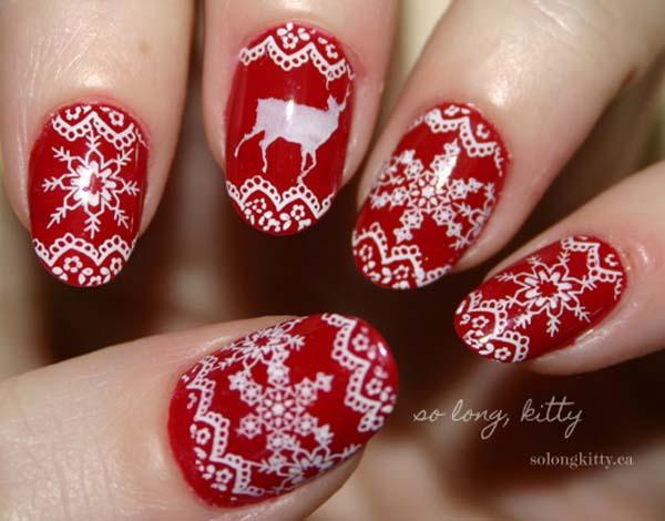 red-christmas-nail-art-designs
