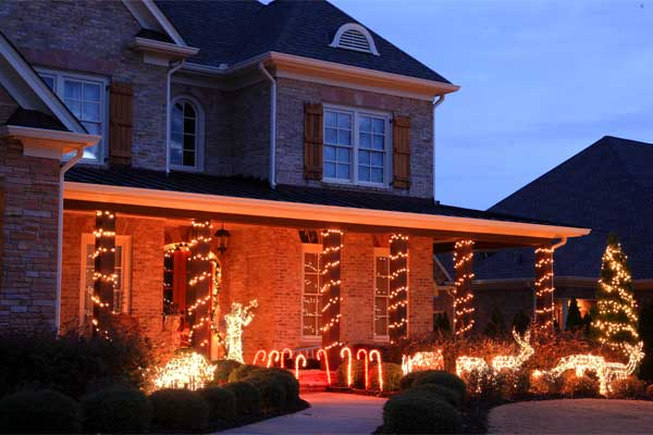 15 dazzling ideas for lighting your surroundings this christmas covered boundaries and hedges come up with this super cool dcor idea of bordering the snow with decorative lights at it covers the fences and bushes mozeypictures Choice Image