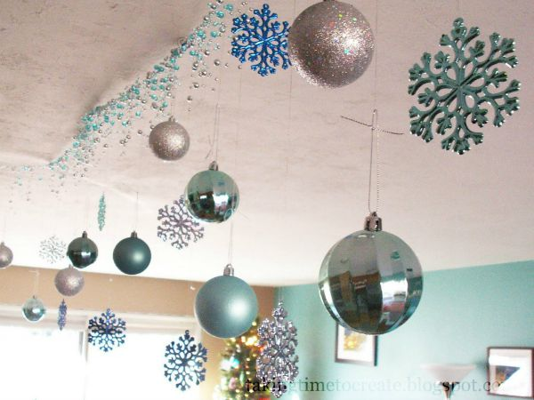 How To Make Paper Christmas Ceiling Decorations : Christmas ceiling decorations to make special