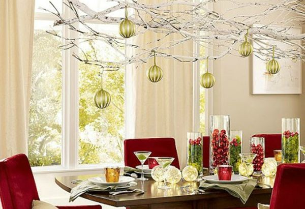 15 christmas ceiling decorations to make christmas special for Modern christmas decor