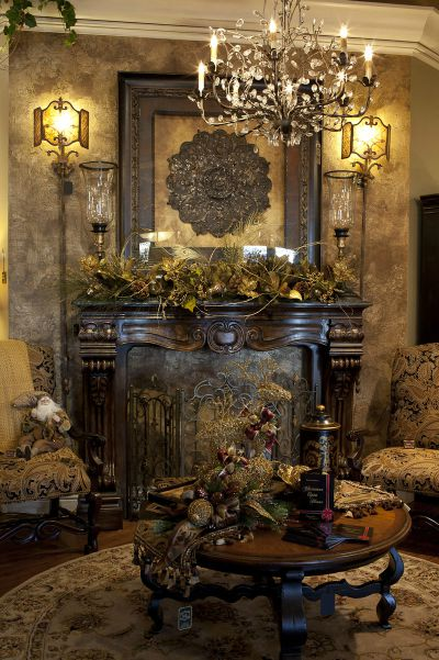 Victorian Christmas Mantle Decor Idea Source