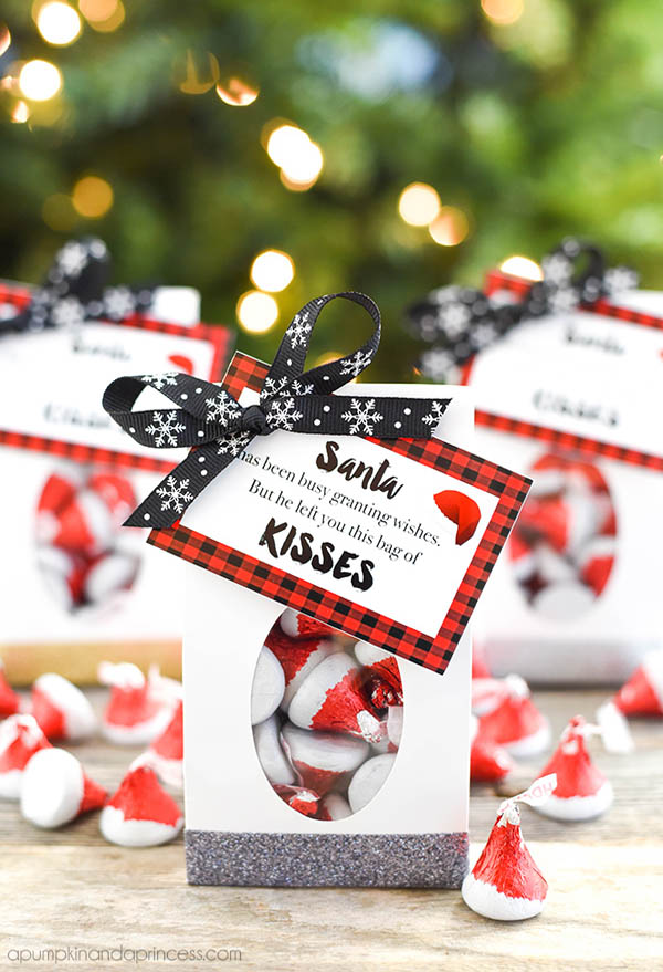 Christmas Party Favours Ideas Part - 21: Sweets And Desserts Can Be A Perfect Christmas Party Favors. You Can Pack A  Few Kisses Chocolate And Put Them In A Cute Loot Bag. Complete The Party  Favor ...