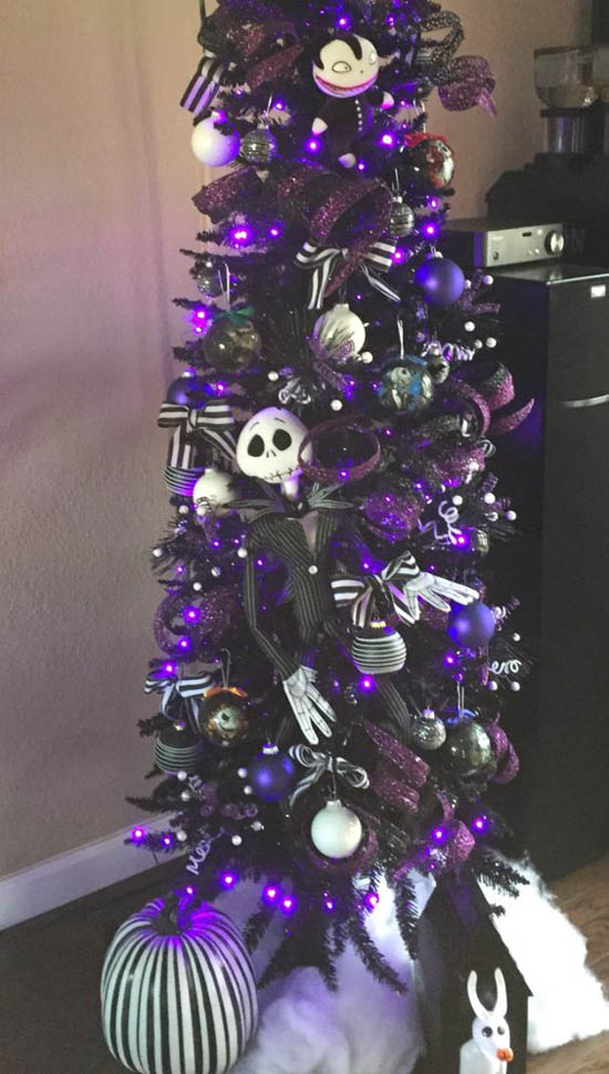 Small Purple Christmas Tree