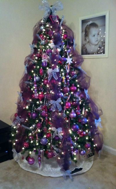 purple christmas tree 9
