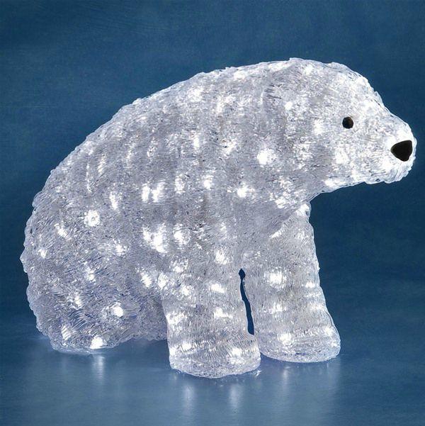 Led Polar Bear Christmas Decoration