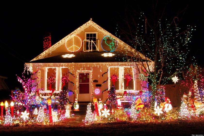 outdoor christmas light design - Christmas House Decoration Ideas