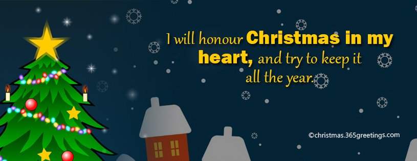 beautiful christmas facebook cover