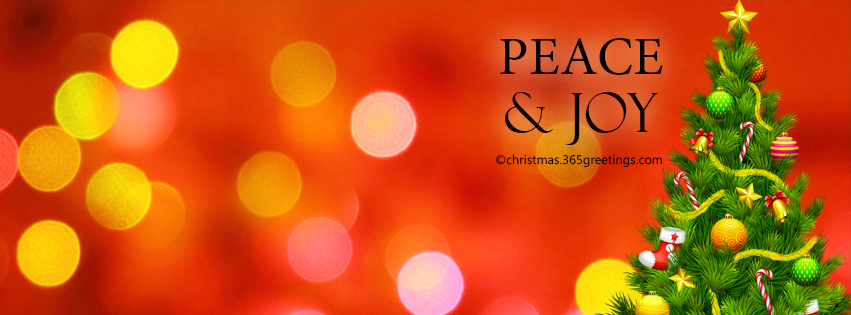simply decorated with christmas tree and wordings of peace and joy this bokeh background for christmas is a gorgeous piece to tweak your facebook cover